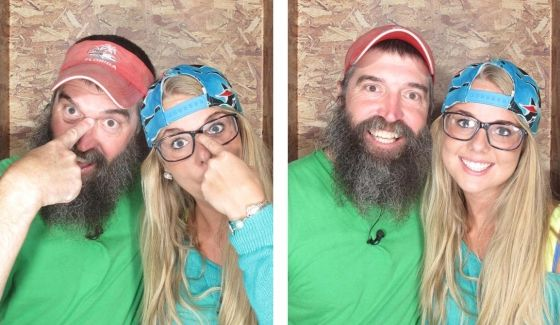 Donny & Nicole in the Big Brother Photo Booth