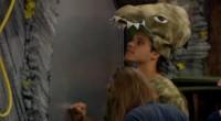 Houseguests inspect the sealed door