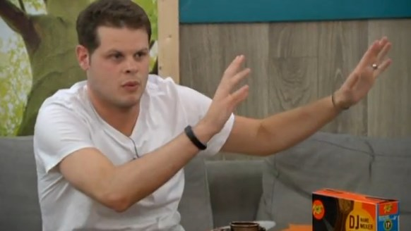 Derrick Levasseur works his plan on Big Brother
