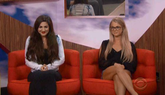 Big Brother nominees Victoria and Nicole
