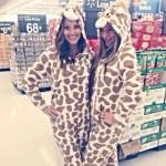 Amber and Elissa giraffing around