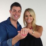 Jordan Lloyd shows off her engagement ring