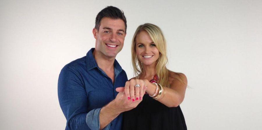 Jordan Lloyd shows off her engagement ring