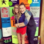Hayden and Nicole with their Big Brother quilt