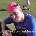 Zach is ready to sign some pink hats