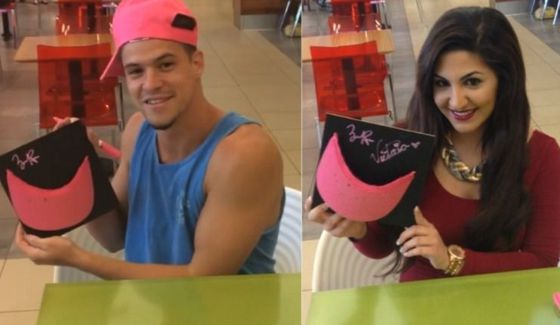 Zach Rance & Victoria Rafaeli sign THE pink hat