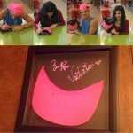 Zach & Victoria auctioning the Pink Hat