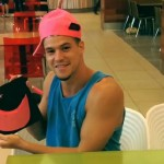 Zach Rance shows off the Pink Hat