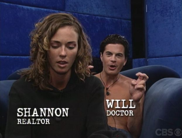 Big Brother 2 Houseguests Shannon and Will