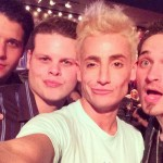 Frankie poses with Cody, Derrick, and Caleb