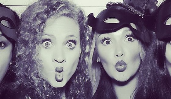 Amber Bortzotra & Brittany Martinez party for Halloween