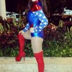 Victoria Rafaeli as Wonder Woman for Halloween 02