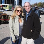 Aaryn Gries poses with a fan