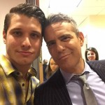 Cody Calafiore with host Andy Cohen