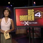 Julie Chen at the Big Brother 4 house
