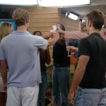 Big Brother 4 HGs toast their arrival