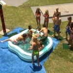 Houseguests compete on Big Brother 4