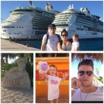 Derrick Levasseur poses with his family on vacation