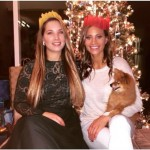 Amber Borzotra & family on Christmas