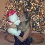 Ashley Iocco enjoying her Christmas