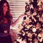 Erika Landin celebrates Christmas