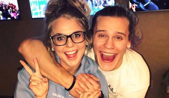Nicole Franzel & Hayden Voss celebrate New Year's 2015