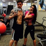 Caleb & his girlfriend at the gym