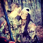Caleb hunting with Ashley