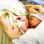 Britney Haynes & her newborn baby girl