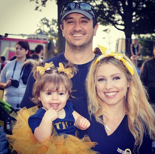 Britney with her husband & daughter Tilly