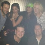 Derrick parties with James Rhine