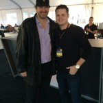 Derrick Levasseur with Phil Hellmuth