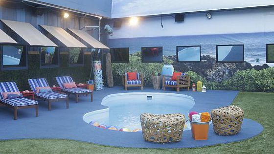 Big Brother 17 house backyard pool