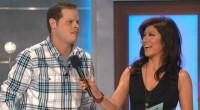 Big Brother 16 winner Derrick Levasseur with Julie Chen
