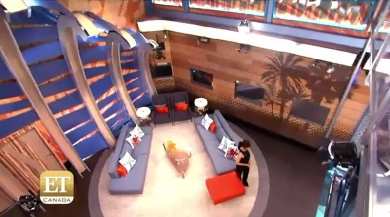 Big Brother House living room high view