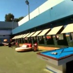 Big Brother 17 House - backyard & pool table