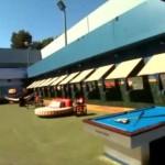 Big Brother 17 House - backyard & pool table