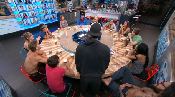 Big Brother 17 HGs at the table