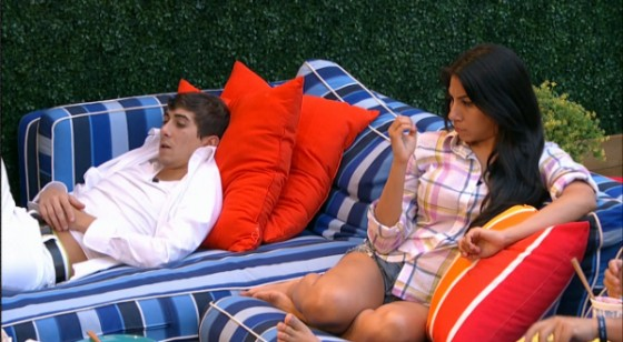 Jason Roy and Jackie Ibara hang out in the Big Brother back yard - Source: CBS All Access
