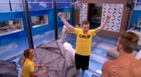 John McGuire celebrates after winning the Power of Veto competition - Source: CBS