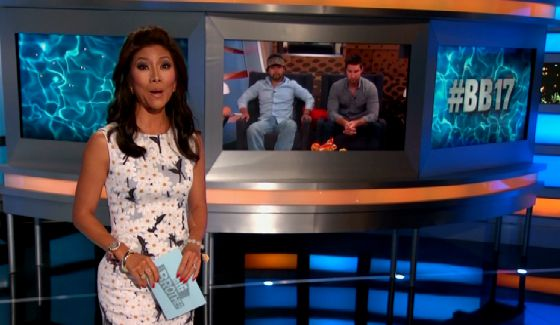 Julie Chen hosts Big Brother live eviction