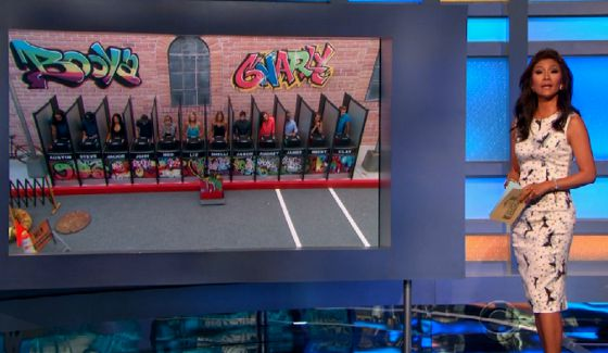 Julie Chen hosts the Big Brother HoH comp
