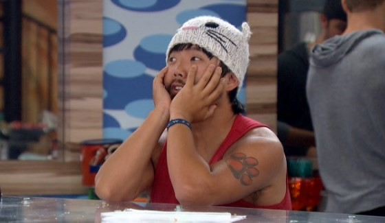 James is one worried kitty on Big Brother