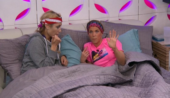 Vanessa and Shelli counting the votes on Big Brother