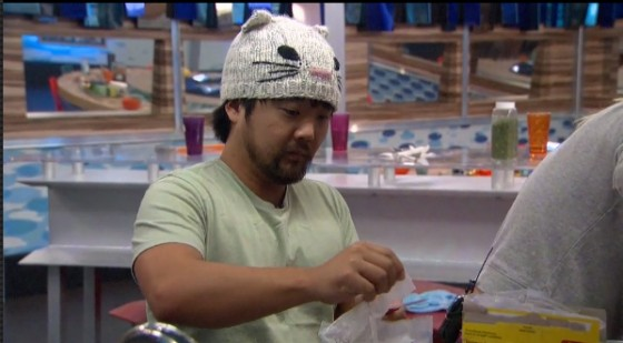 "James prepares a dish during ""BB Chopped"" - Source: CBS All Access"