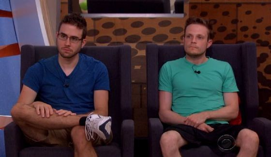 Nominees Steve Moses and John McGuire on Big Brother