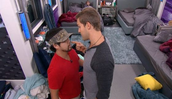 Clay Honeycutt gets in James Huling's face on Big Brother 17