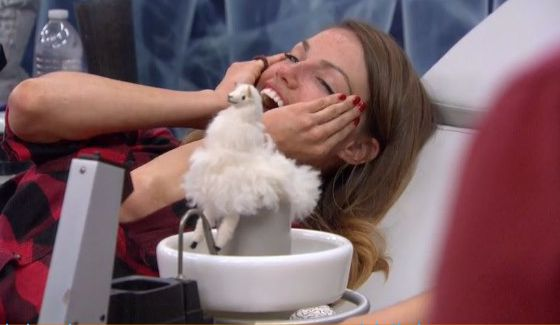 Becky Burgess and Larry the Llama on Big Brother
