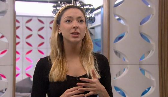 Liz Nolan prepares her Power of Veto speech for Big Brother