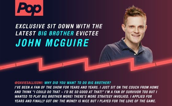 Big Brother 17 - John McGuire interview with Pop